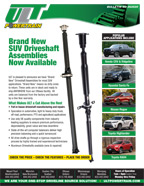 ULT New SUV Driveshafts Available